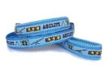 Agilityleine zum Überziehen mit Feststeller und Airmesh-Unterfütterung - Agility hellblau