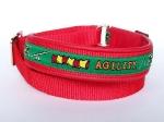 Leine zum Überziehen - Agility grün-rot