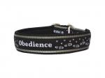 Obedience schwarz-weiss - Zugstopp - Breite ca. 3,2 cm incl. Airmesh-Unterfütterung