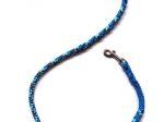 Hollandleine (teilgeflochten) - Länge 1,20 m - Farben: Abyss-metallic blue
