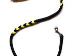 Hollandleine (teilgeflochten) - Länge 1,20 m - Farben: schwarz-gelb
