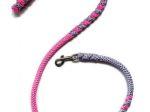 Hollandleine - teilgeflochten - Länge 1,20 m - pink-flieder