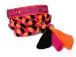 """Agility-Zergelleine """"Agility pink"""" - Halsung bis 35,5 cm - Breite ca. 3,3 cm incl. Airmesh-Unterfütterung (Halsung) - Gurtband pink (25 mm - Halsung) Fleece pink, orange, und schwarz (Leinenteil) - Airmesh orange"""