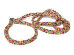 Agilityleine aus PPM-Seil zum Überziehen (mit Stopper) - Gesamtlänge ca. 1,70 m - Farbe: Rainbow