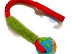Orbee-Ball in blau-grün mit Fell und ruckdämpfendem Bungeegriff - Größe M (Balldurchmesser 7,5 cm) von Dogscraft