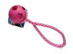 Wabenball pink mit Band (PPM-Seil) - Balldurchmesser 7 cm