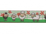 Webband Schafe Molly und Polly - 15 mm
