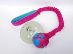 Orbee-Ball in pink-blau mit ruckdämpfendem Bungeegriff - Größe S (Balldurchmesser 5,5 cm) - von Dogscraft