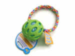 JW Crackle-Ball hellgrün - Größe Medium (Balldurchmesser 7,6 cm) mit Band - EUR 12,00