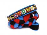 Agility-Zergelleine zum Überziehen - Superhero blau-rot - Halsung bis 35 cm