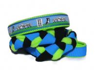 Agility-Zergelleine Border Collie schwarz-weiss-blau-grün