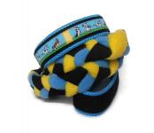 Agility-Zergelleine Jack-Russell-schwarz-blau-gelb