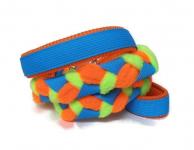 Agility-Zergelleine blau-orange-neongrün