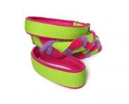 Agility-Zergelleine hellgrün-pink-flieder