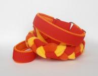 Agility-Zergelleine rot-orange-gelb orangefarbener Airmesh-Unterfütterung