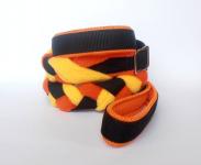 Agility-Zergelleine schwarz-orange-gelb mit Airmesh-Unterfütterung