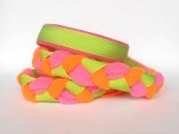 Agility-Zergelleine hellgrün-neonpink-neonorange