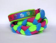 Agility-Zergelleine Rainbow-Paws mit neongrüner Airmesh-Unterfütterung