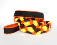 Agility-Zergelleine schwarz-orange-gelb