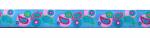 Webband Paisley hellblau - 15 mm