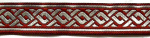 Knoten Bordeaux-Silber - 22 mm
