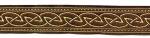 Keltischer Knoten Braun-Gold - 22mm