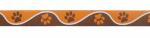 Pfötchen braun-orange - 22 mm
