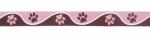 Pfötchen braun-rosa - 22 mm
