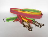 Arbeitsleinen/Ausbildungsleinen ohne Handschlaufe - beidseitig gummiert - Länge 1 Meter - Breite 2 cm