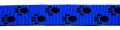 Pfötchen Mittelblau-Schwarz - 25 mm