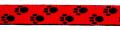 Pfötchen Rot-Schwarz - 25 mm