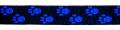 Pfötchen Schwarz-Mittelblau - 25 mm