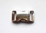 Klickverschluß aus Alu (Hochglanz) - verfügbar in den Breiten 20 und 25 mm
