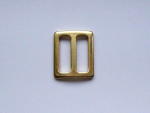 Verstellschieber aus Metall - vermessingt - verfügbar für Gurtbandbreite 20 und 25 mm