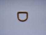 sehr stabiler D-Ring aus massivem Messing - verfügbar für Gurtbandbreite 25 mm