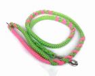 Hollandleine teilgeflochten apfelgrün-pink