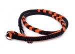 Hollandleine teilgeflochten schwarz-orange