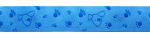 Hund blau - 15 mm