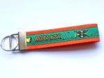 Agility grün-orange - ca. 11,5 cm zzgl. Metallöse und Schlüsselring