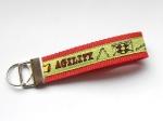 Agility lime - ca. 11,5 cm zzgl. Metallöse und Schlüsselring