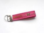 Agility pink - ca. 11,5 cm zzgl. Metallöse und Schlüsselring
