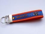 Agility royalblau-orange - ca. 11,5 cm zzgl. Metallöse und Schlüsselring