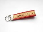 Obedience sand-rot - ca. 11,5 cm zzgl. Metallöse und Schlüsselring