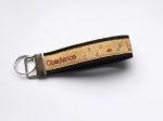 Obedience sand-schwarz - ca. 11,5 cm zzgl. Metallöse und Schlüsselring