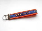 Agility blau-orange - ca. 15 cm zzgl. Metallöse und Schlüsselring