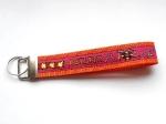 Agility pink-orange - ca. 15 cm zzgl. Metallöse und Schlüsselring
