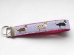 Aussie flieder - ca. 15 cm zzgl. Metallöse und Schlüsselring