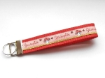 Glückspilz rosa - ca. 15 cm zzgl. Metallöse und Schlüsselring