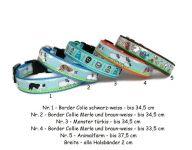 Welpenhalsbänder oder Halsbänder für kleine Hunde - Breite 2 cm - verschiedene Größen - individuell verstellbar