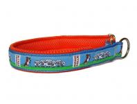 Zugstopp Border Collie braun-weiss - individuell verstellbar - Halsumfang bis 45 cm